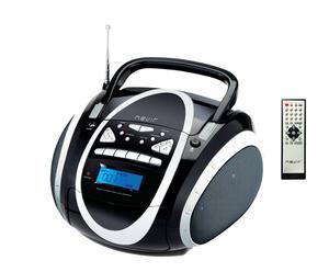 Radio Casette Nevir – negro y plata