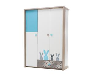 Armario de 3 puertas Bunny - azul