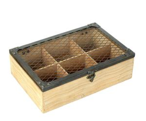 Caja organizadora con tapa de rejilla