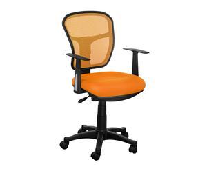 Silla de oficina con reposabrazos - negro y naranja
