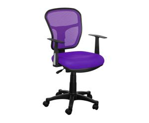 Silla de oficina con reposabrazos - negro y púrpura