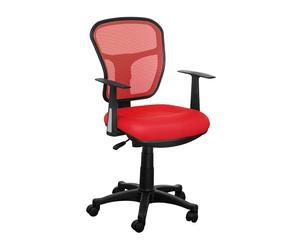 Silla de oficina con reposabrazos - negro y rojo