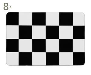 Set de 8 salvamanteles de corcho – blanco y negro