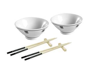 Set de 2 cuencos y 4 palillos chinos