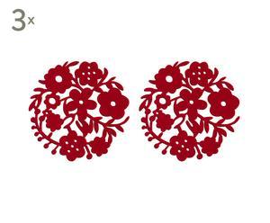 Set de 6 manteles individuales de fieltro – rojo II