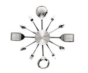 Reloj de pared de aluminio Cubiertos