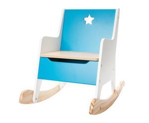Mecedora en DM Estrella - azul y blanco