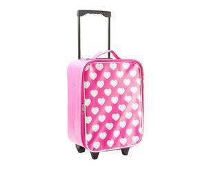 Maleta trolley en PVC – rosa