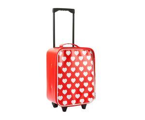 Maleta trolley en PVC – rojo