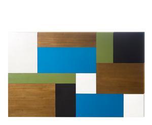 Cabecero en madera de mango – natural y multicolor I
