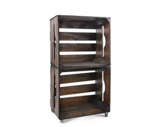 Estantería modular formada por 2 cajas de madera DM – envejecido