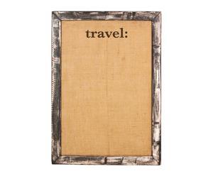 Pizarra de corcho y marco decapado Travel