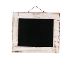 Pizarra con marco de madera – blanco