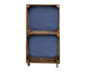 Estantería de madera con 2 módulos tapizada Barquitos
