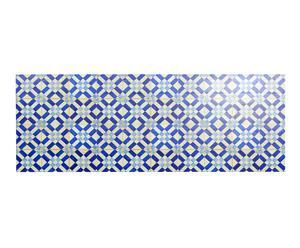Cabecero Hidráulico en madera de pino impresa, blanco y azul – 180x60