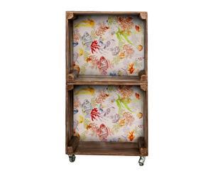 Estantería de madera con 2 módulos tapizada Coral