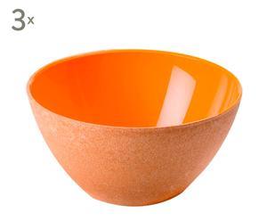 Set de 3 boles en plástico eco-sostenible – naranja