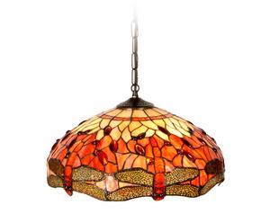 Lámpara de techo Tiffany  con 3 luces – grande