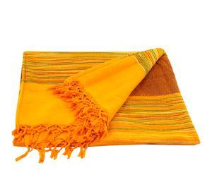 Colcha hecha a mano en algodón, amarillo – 220x270