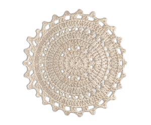 Alfombra de algodón, blanco - Ø68