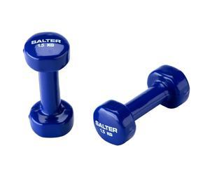 Set de 2 pesas de vinilo, azul – 1,5kg