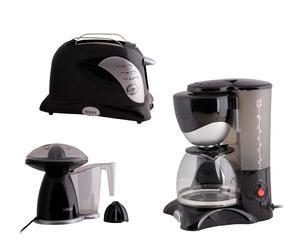 Set de cafetera, tostador y exprimidor