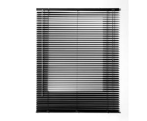 Persiana veneciana de láminas de aluminio, negro – 120x250