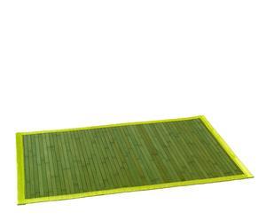 Alfombra de bambú con ribete en poliéster, verde – 120x180