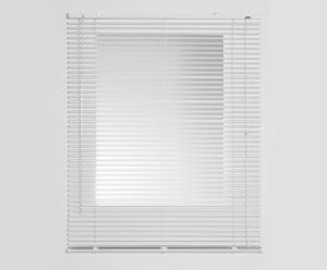 Persiana veneciana de láminas de aluminio, blanco – 90x250