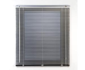 Persiana veneciana de láminas de aluminio, plata –135x250
