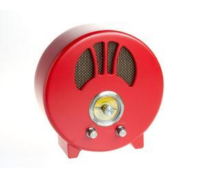 Radio Clásica, redonda – rojo
