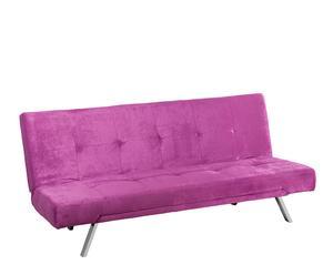 Sofá cama en antelina - púrpura