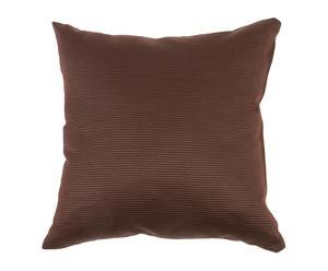 Cojín en algodón y poliéster – marrón