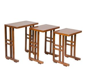 Set de 3 mesas nido de madera