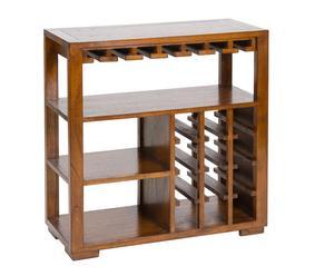 Botellero con estantes de madera