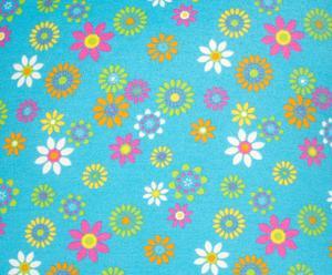 Cojín Primaveral, azul – 60x60
