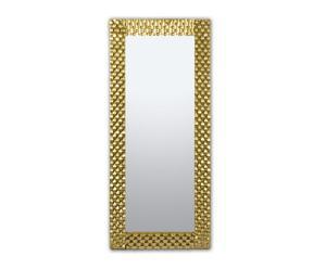 Espejo rectangular en metal, oro – grande