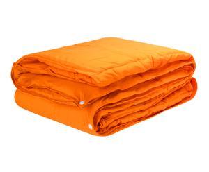 Edredón Nórdico Combicolor, naranja – cama de 105 cm