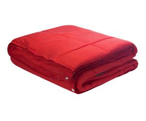 Edredón Nórdico Combicolor, rojo – cama de 135 cm