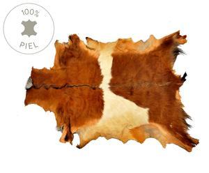 Alfombra de piel – marrón y blanca
