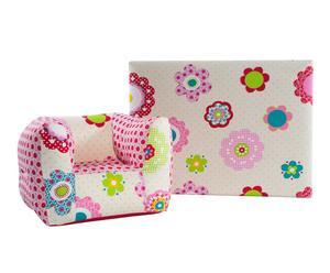 Set de cabecero y sillón infantil de algodón – rosa