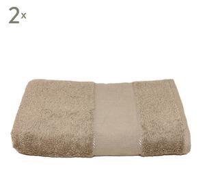Set de 2 toallas de lavabo Panamá - Piedra
