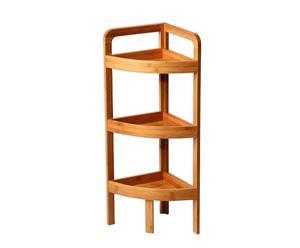 Estantería rinconera de bambú con 3 baldas – natural