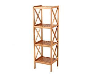 Estantería de bambú, 4 baldas – natural