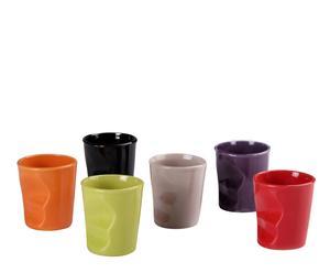Set de 6 vasos de gres – multicolor II