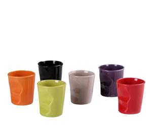 Set de 6 vasos de gres – multicolor II