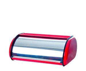 Panera de acero inoxidable – acero y rojo