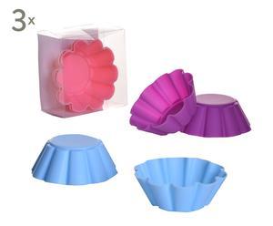 Set de 18 cápsulas de silicona Cupcake Flor