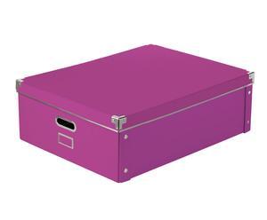 Caja plegable de cartón, fucsia - 55x43x18