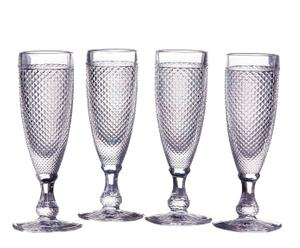 Set de 4 copas de cava Diamonds